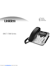 uniden dect1588 2 user manual pdf download rh manualslib com uniden cordless phone user manual uniden telephone user manual
