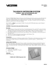 Valcom V-2924A Manuals
