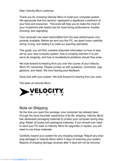 Velocity NoteMagix M10 User Manual