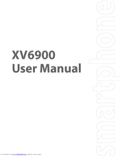 verizon xv6900 user manual pdf download rh manualslib com