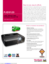 Viewsonic PJD5123 Specifications
