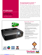 Viewsonic PJD5223 Specifications