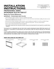 Viking Professional Vmos200 Installation Instructions