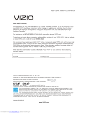 vizio e321vl user manual pdf download rh manualslib com Vizio Model E320VL Manual Vizio E320VL Manual