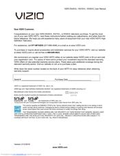 Vizio E550VL Manuals
