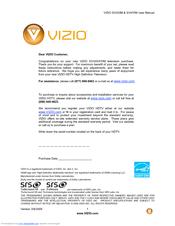 Vizio sv420m & sv470m user manual version 3/9/2009 1 www. Vizio. Com.
