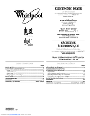 Whirlpool WED9270XR Use And Care Manual