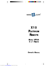 X10 UR73A Owner's Manual