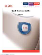 Xerox CopyCentre C128 Quick Reference Manual