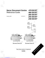 Xerox Document Centre 265 DC Reference Manual
