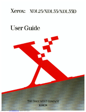 Xerox XDL33 User Manual