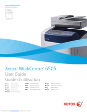 Xerox WorkCentre 6505 Manuals
