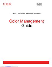 Xerox iGen3 Color Management Manual