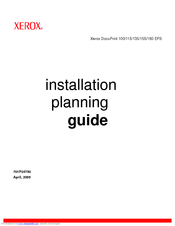 Xerox DocuPrint 115 EPS Installation Planning Manual
