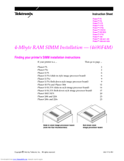 Xerox Phaser 200I Instruction Sheet