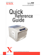 xerox phaser 6250 quick reference manual pdf download rh manualslib com Xerox Phaser 6250 Driver Xerox Phaser 6200
