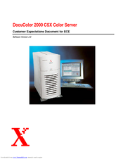 Xerox DocuColor 2000 CSX Reference Manual
