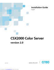 Xerox CSX 2000 Installation Manual
