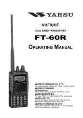 yaesu ft 60r operating manual pdf download rh manualslib com FT-60R Manual Yaesu FT-60R Software