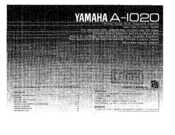 Yamaha A-1020 Owner's Manual