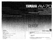 Yamaha AV-70 Owner's Manual