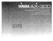 Yamaha AX-300 Owner's Manual