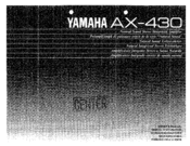 Yamaha AX-430 Owner's Manual