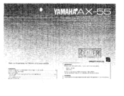 Yamaha AX-55 Owner's Manual