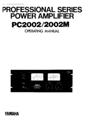 Yamaha 2002M Operating Instructions Manual