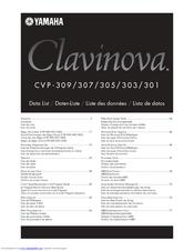 Yamaha clavinova cvp 301 manuals for Yamaha clavinova cvp 303
