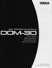 yamaha dom 30 manuals