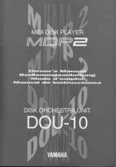 Yamaha DOU-10/MDP2 Owner's Manual