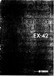 Yamaha Electone EX-42 User Manual