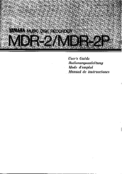 Yamaha MDR-2P User Manual