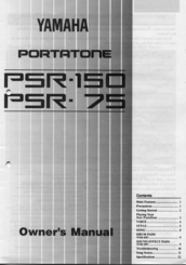 Yamaha PSR-75 User Manual