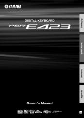 yamaha psr e423 manuals rh manualslib com Yamaha PSR E423 vs E433 yamaha psr e423 service manual