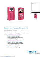 PHILIPS CAM100 Specifications