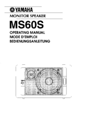 Yamaha MS60S Operating Manual