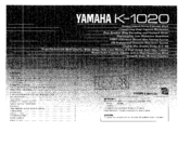 Yamaha K-1020 Owner's Manual