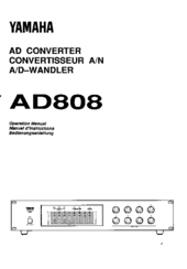 Yamaha AD808 Operation Manual