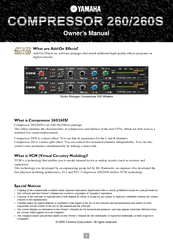 Yamaha Add-On Effects Owner's Manual