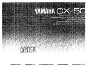 Yamaha CX-50 Owner's Manual