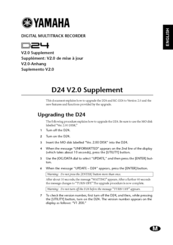 Yamaha RC-D24 Upgrade Manual