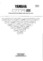 Yamaha DTR2 Owner's Manual