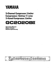 Yamaha GC2020BII Operating Manual