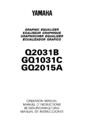 Yamaha GQ2015A Operation Manual