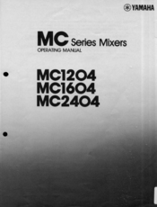 Yamaha MC1204 User Manual