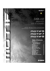 Yamaha Motif 6 Manuals Manualslib