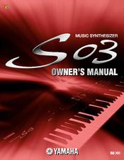 Yamaha S03 voice editor Manuals
