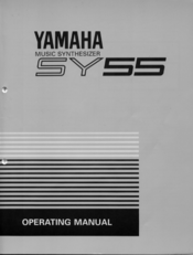 Yamaha SY55 Operating Manual